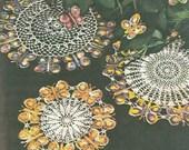 Butterfly Doilie Doily Crochet Pattern 4 Size 3 Style PDF Instant Download