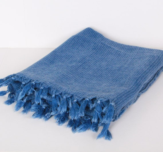 Blue Towel ,Turkish Bath Towel... NEW SPECIAL Peshtemal Blue