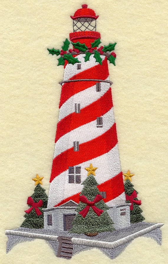White Shoal Lighthouse Machine Embroidery Quilt Blocks