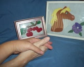 Wool Felt Design in a Picture Frame for Friendship Day