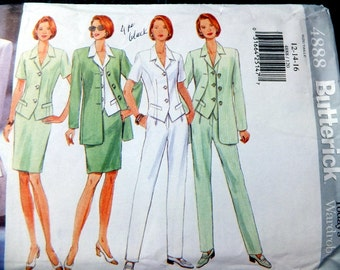 Butterick 4888 Misses Petite Jacket, Top, Skirt and Pants in size 12-14-16