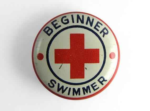 Vintage American Red Cross Beginner Swimmer Pin