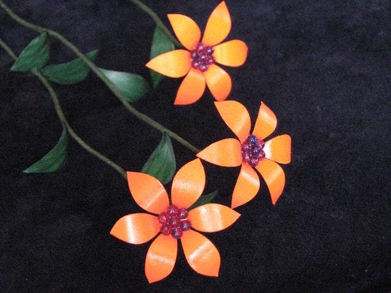 Orange Metal Flowers