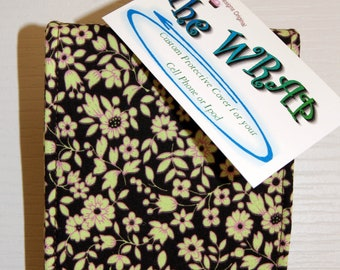 Brown Floral iPhone4/5 Case Cell Phone Fabric Cover iPod Accessory n Earbud Case