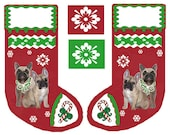 French Bulldog Christmas Stocking Cut and Sew Fabric