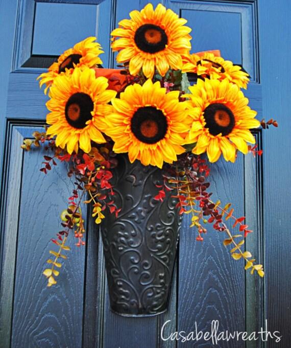 Sunflower wreath, fall wreath, autumn wreath, wreath for the door