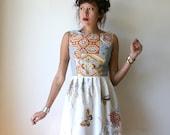 Geometric Butterfly Mini Dress Sz S