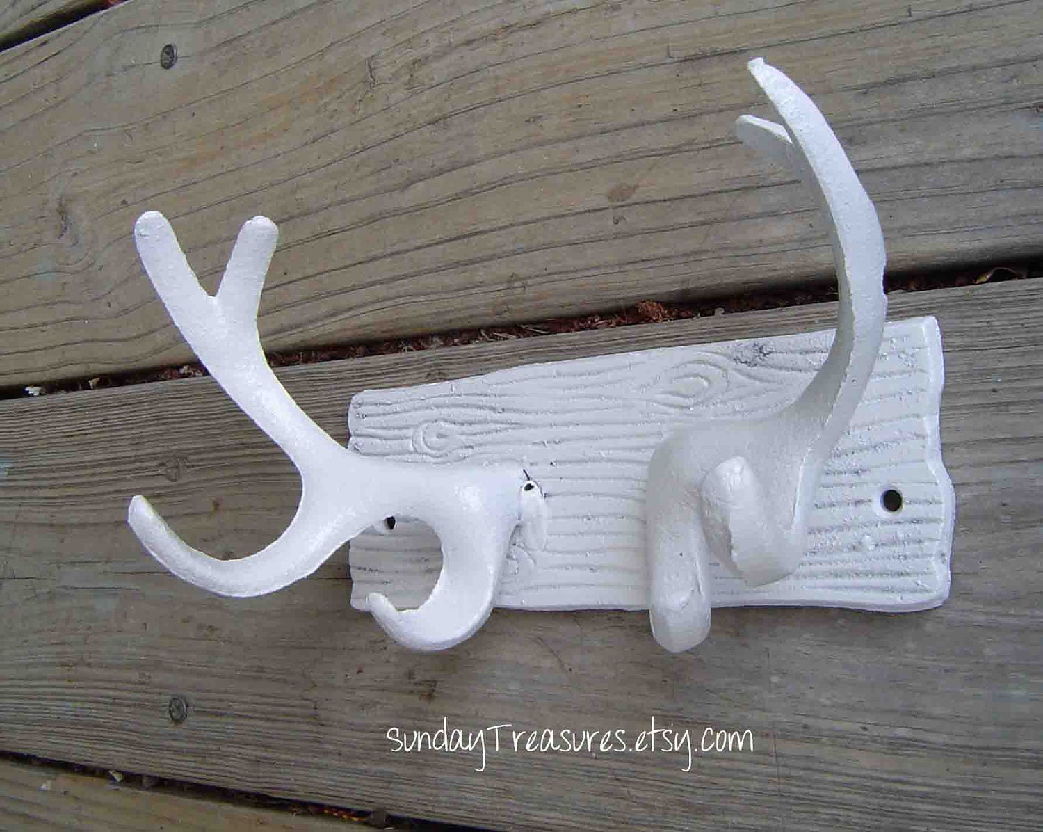 Items Similar To White Antlers Wall Hanging Hook