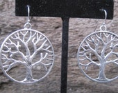 Oak tree,Tree of Life, Auburn,Toomer's Corner, Silver earrings