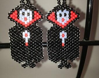 Little vampire beaded earrings
