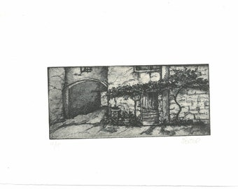 The archway - hand pulled etching