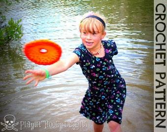 CROCHET PATTERN - Flying Disc (Frisbee) Pattern