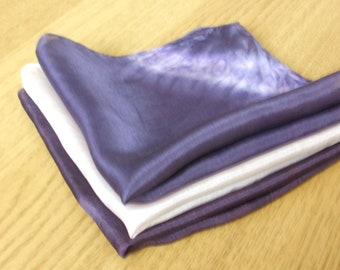 Winter Frost Silk Handkerchiefs - Set of Three - Naturally Dyed - Gift Wrapped - Ready To Ship