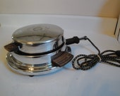 Vintage Waffle Maker Dominion Chrome Model 1302