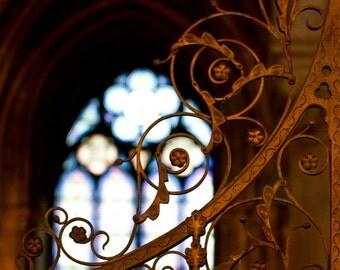Paris Fine Art Travel Photograph, Paris Decor, Paris Photography, Bronze Scrolls, Notre Dame Cathedral - Notre Dame Scrolls