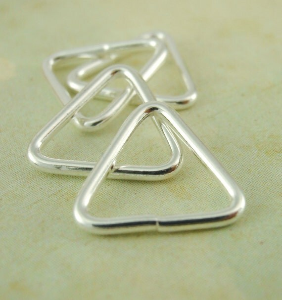 2 argentium sterling silver triangle jump rings you