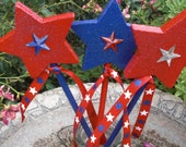 Plant Stakes - Stars - 4th of July
