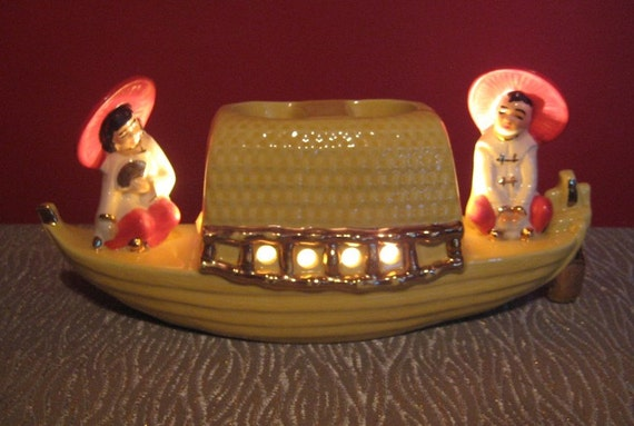 vintage mid century atomic 50s chinese asian oriental t v lamp retro boat light