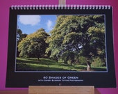 2013 Wall Calendar with 13 of my Photographs, Wire bound, each page A4, A3 calendar when hanging up
