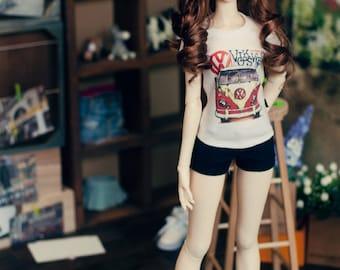 SD13 girl Classic Short Short Yellow & Navy