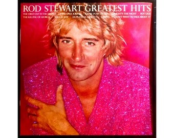 Glittered Rod Stewart  Greatest Hits Album