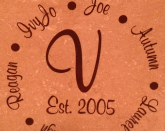 Personalized Family Tile Decoration