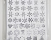 SNOW CRYSTAL Cards 10 pack WHITE Photographs of Snowflakes