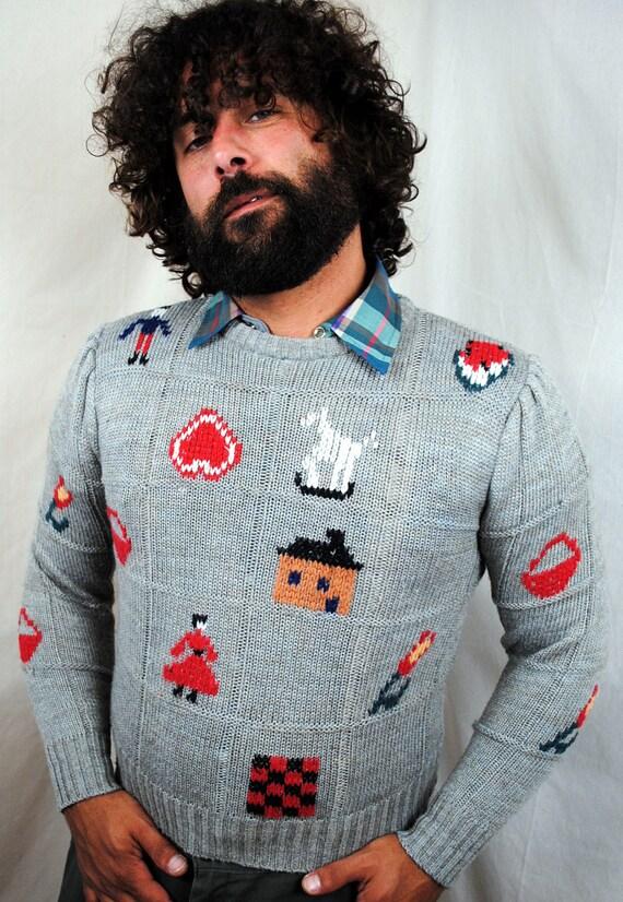 Vintage Folk Art Knit Sweater