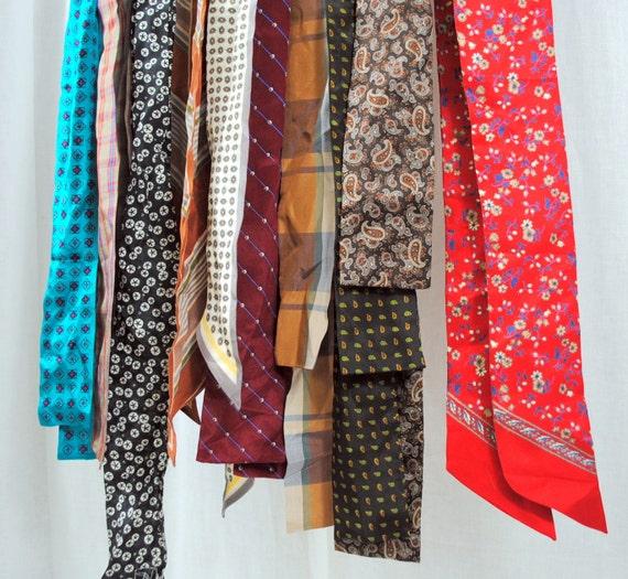 Lot of 10 Vintage Silk Neck Ties - Oscar de la Renta, Ginnie Johansen, etc