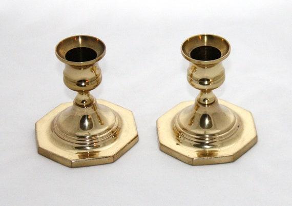 Vintage Brass Baldwin Candle Holder Sticks