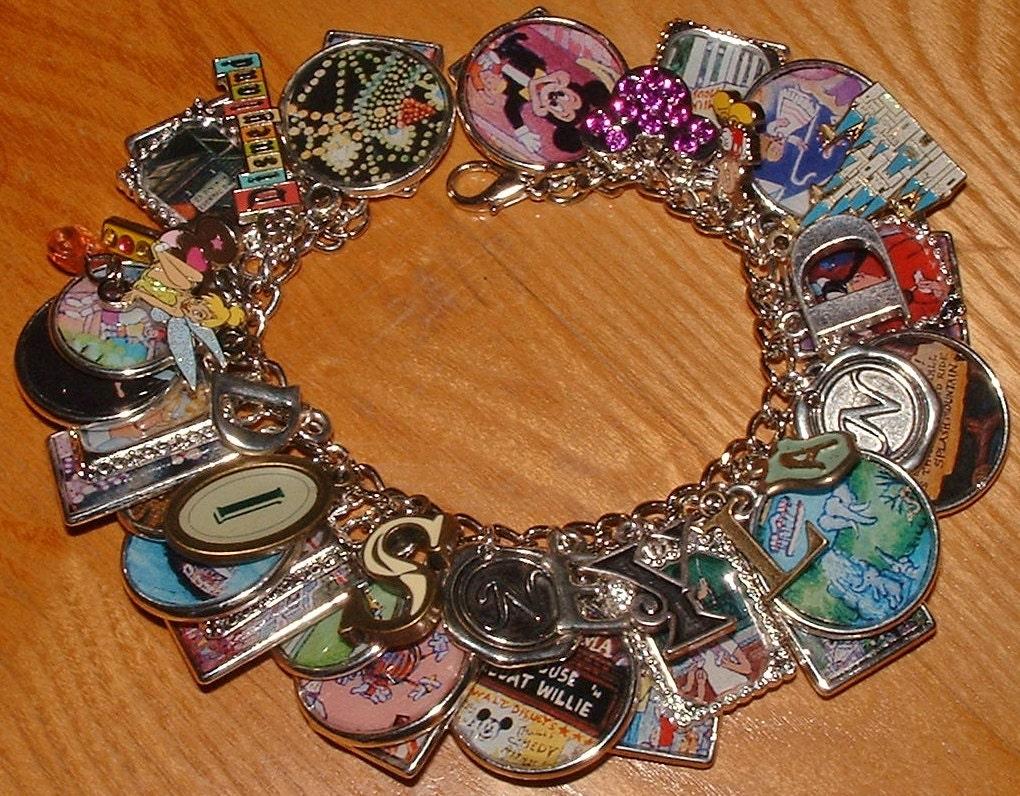 disneyland the magic kingdom altered charm bracelet