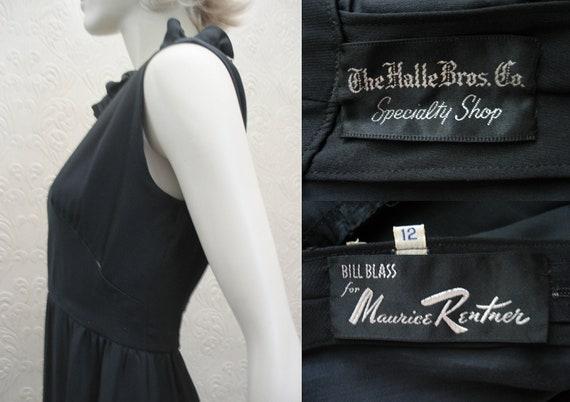 SALE was 150 vintage 60's Bill Blass for Maurice Rentner little black dress vintage size 12