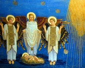 Christmas Cards - Nativity Mosaic, Church of the Transfiguration, Mount Tabor, Galilee, Israel