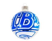 Handpainted Tau Beta Sigma Ornament with Swirl and Clef Ready to Ship