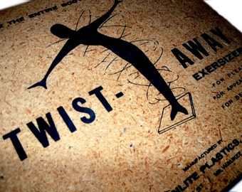 Space Age Twist-Away ExerSiZer. Atomic Graphic. Original Box. Vintage Exerciser. FREE SHIP