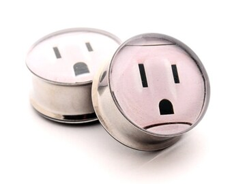 Outlet Picture Plugs gauges - 00g, 7/16, 1/2, 9/16, 5/8, 3/4, 7/8, 1 inch