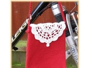 ENGLISH Instructions - Instant Download PDF Crochet Pattern Red Doily Purse Bag