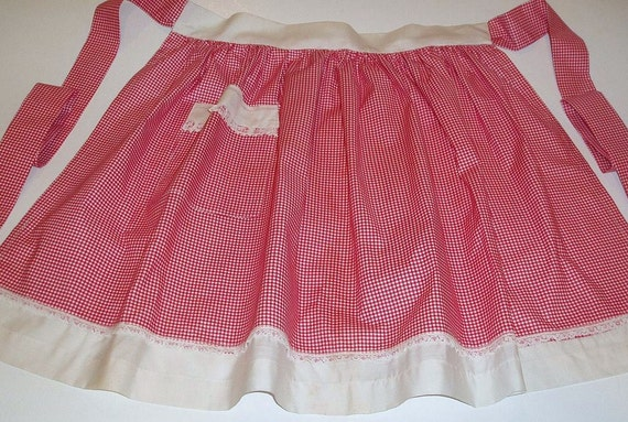 Sale Vintage Hand Made Checked Apron