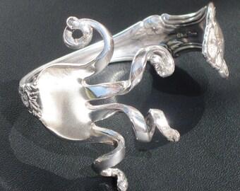 Sterling Silver Fork Bracelet - International Silver Wild Rose