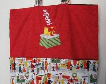 Retro Christmas Present Eco Friendly Tote - Shopping Bag