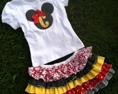 Minnie Mouse Ruffle skirt and matching t shirt Copy