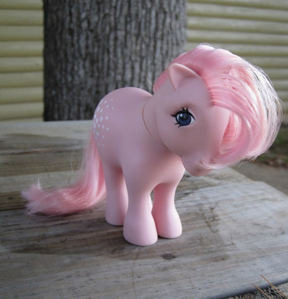 Vintage 1980s My Little Pony - G1 Concave Foot Cotton Candy