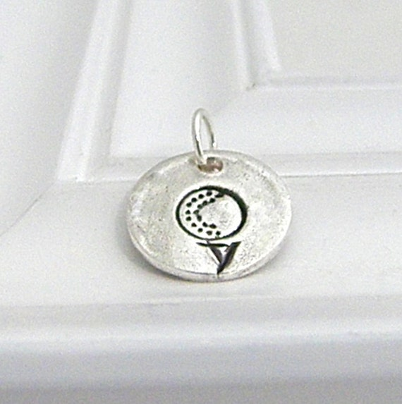 Golf Charm - Hand Stamped Silver on Etsy