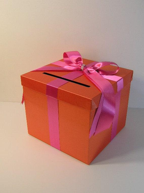 orange wedding card box 28 images wedding card box with white