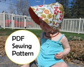 Infant and Toddler Sun Bonnet Pattern PDF - REVERSIBLE
