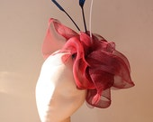 Red, White and Blue Crin Fascinator - Great for the races or a wedding, can be made in other colours
