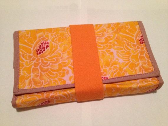 Wrap Wallet: Bright Orange and Magenta