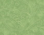 """1 Yard Fabric - INVENTORY SALE - Wilmington - """"Prima Flora"""" -  Dotty Paisley Green -82004-700 - Fabric By The Yard"""