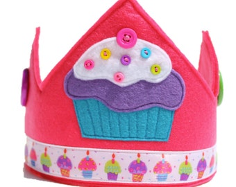 Birthday Cupcake Crown