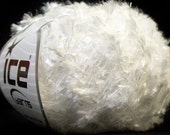 ICE YARNS sale eyelash type yarn 50gr 1 skein white polyester ships from usa at usps cost 24877 novelty fuzzy